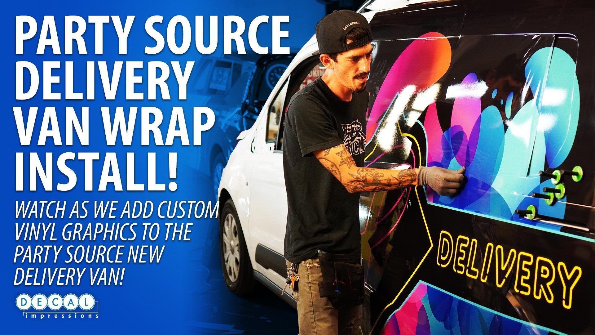 Party Source Delivery Van Wrap