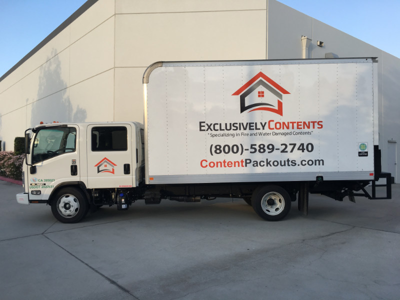Delivery Box Truck Graphics in Orange County