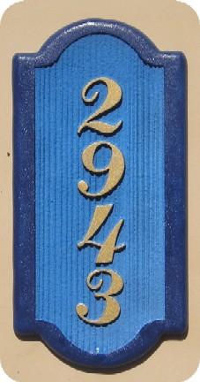I18834 - Vertical Sandblasted Address Number Sign