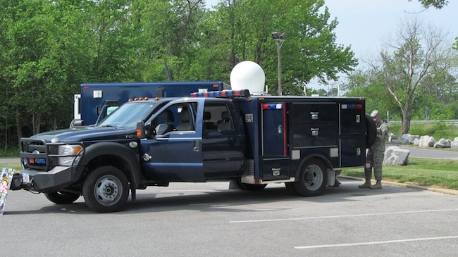 Maryland National Guard Communications Vehicle was on Display (NSA photo)