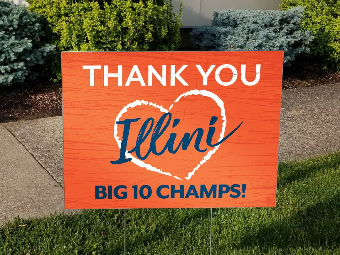 Show your support for the Illini by ordering your TY Illini Yard sign.