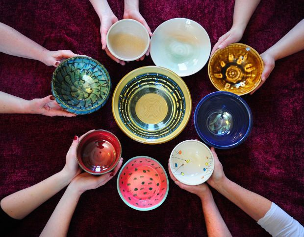 LC Serves: Empty Bowls Painting Party