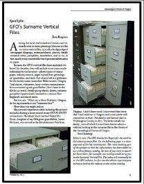 Surname Vertical Files