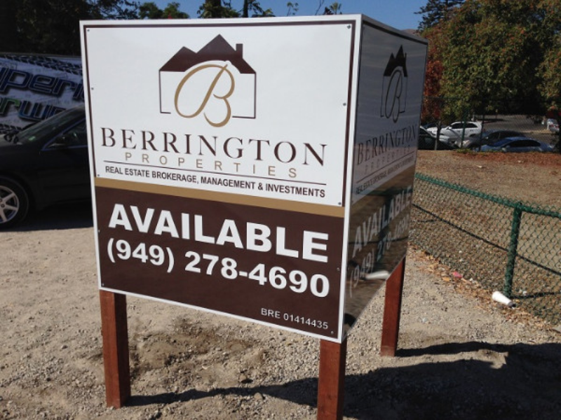Commercial Property Space Available Signs in Orange County CA