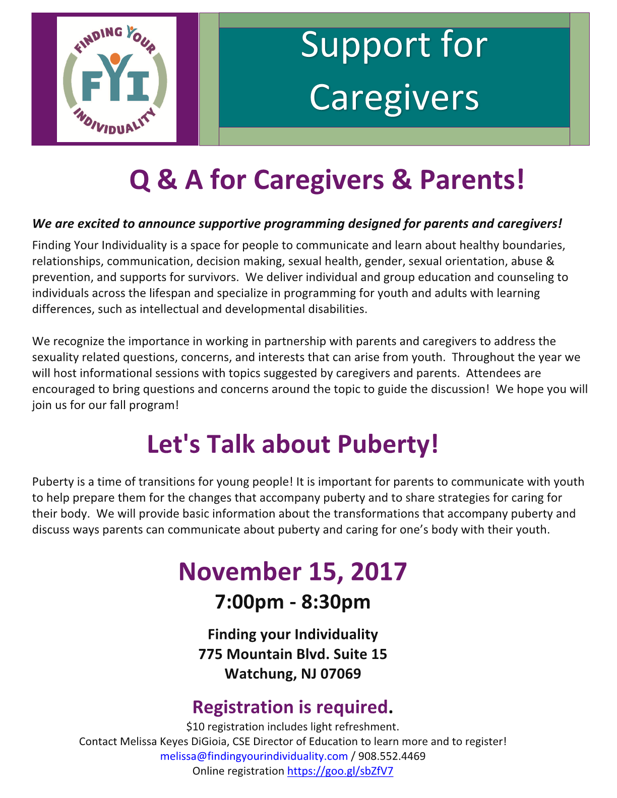 Q & A for Caregivers & Parents! Let's Talk about Puberty!