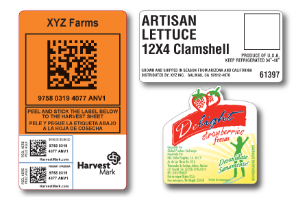 Agricultural Packing Labels