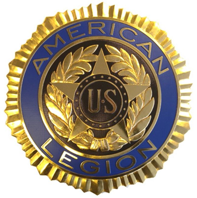 UP-1010 -  Emblem of American Legion, Gold-Leaf Gilded