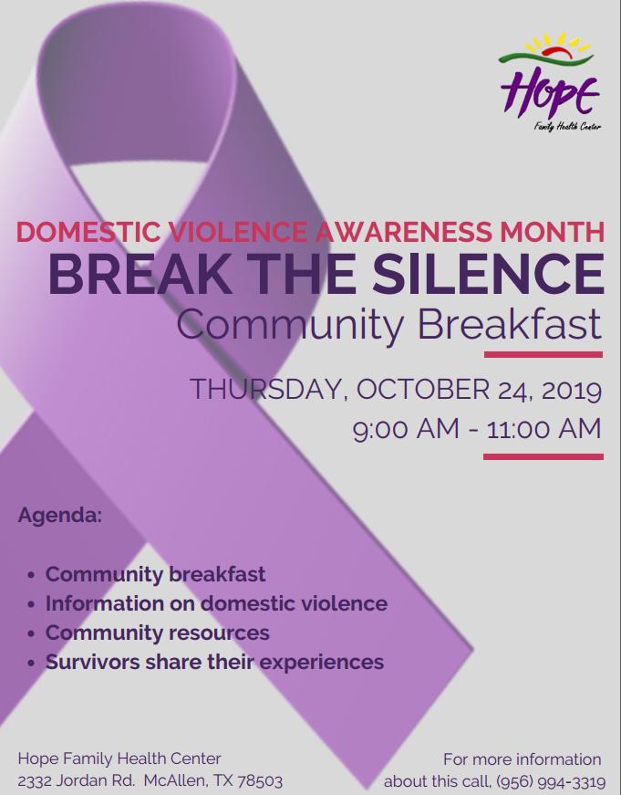 Domestic Violence Awareness Breakfast