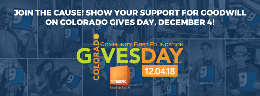 Support Goodwill on CO Gives Day