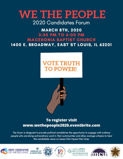 We The People 2020 Candidates Forum in East St. Louis, IL on March 8, 2020.