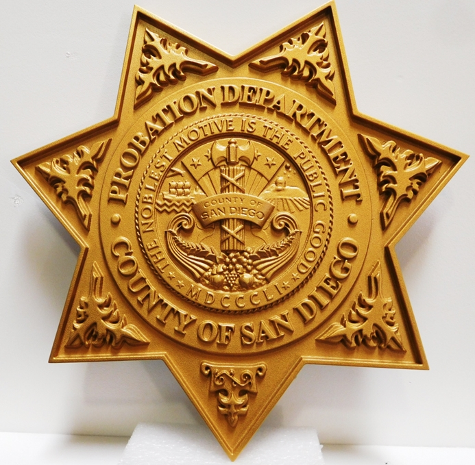 CC7195 - Sheriff's Badge Plaque