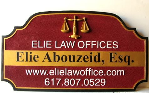 A10170- Carved and Sandblasted Law Office Sign