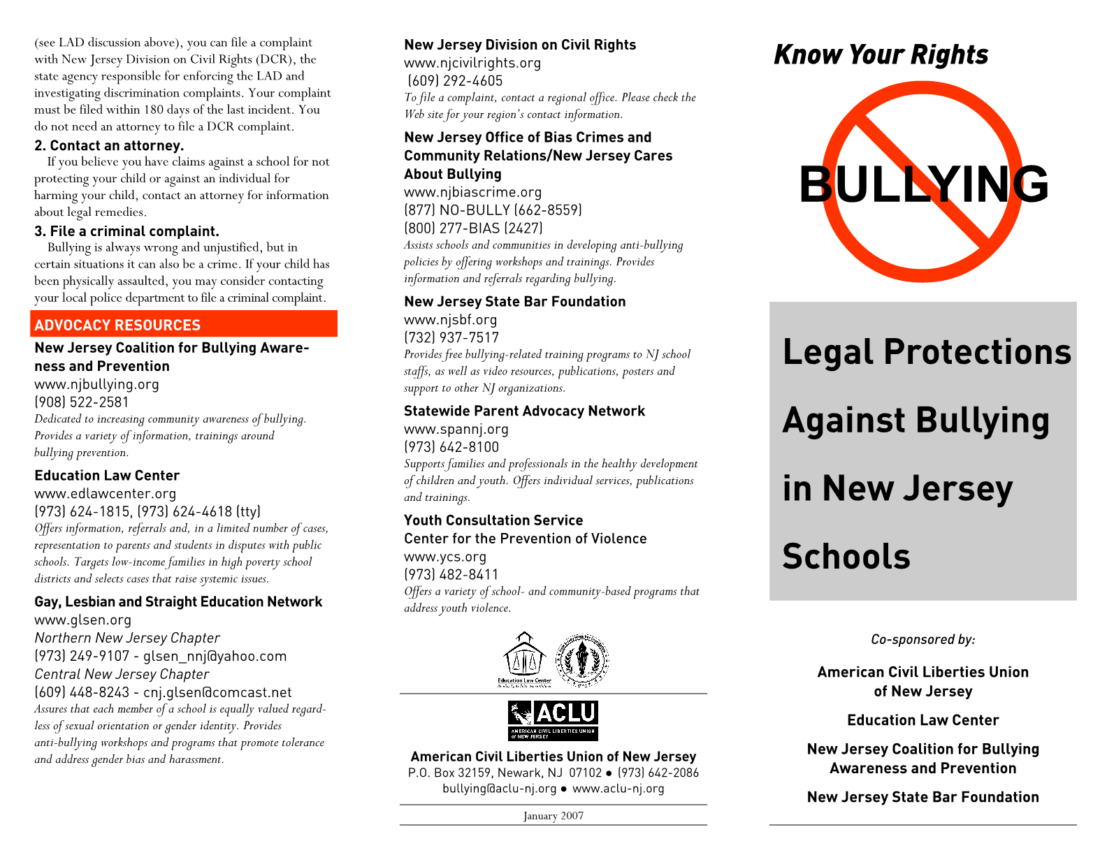 Legal Protections Against Bullying in New Jersey Schools