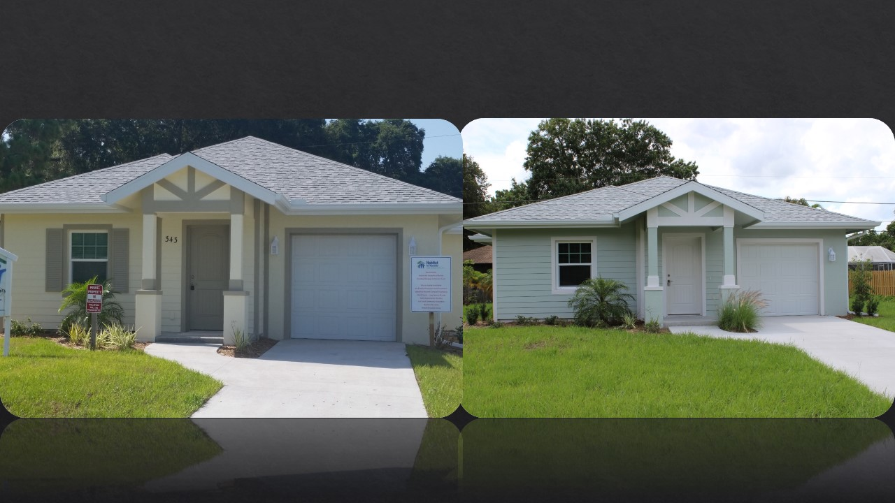 Homes built through Habitat of Humanity of Florida.