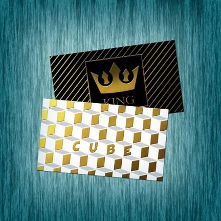 Raised Foil Business Cards (Foil front only)