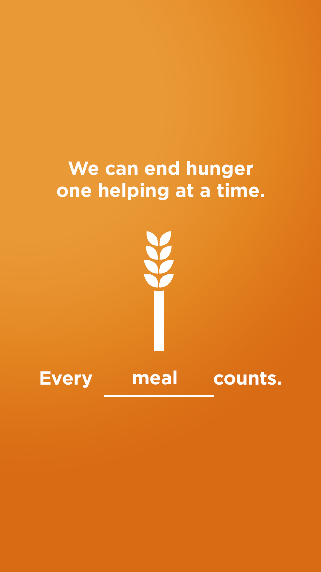 We can end hunger - Meal