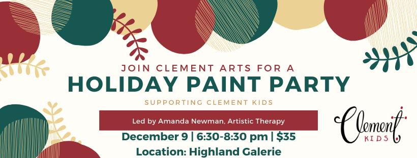Clement Arts Christmas Paint Party