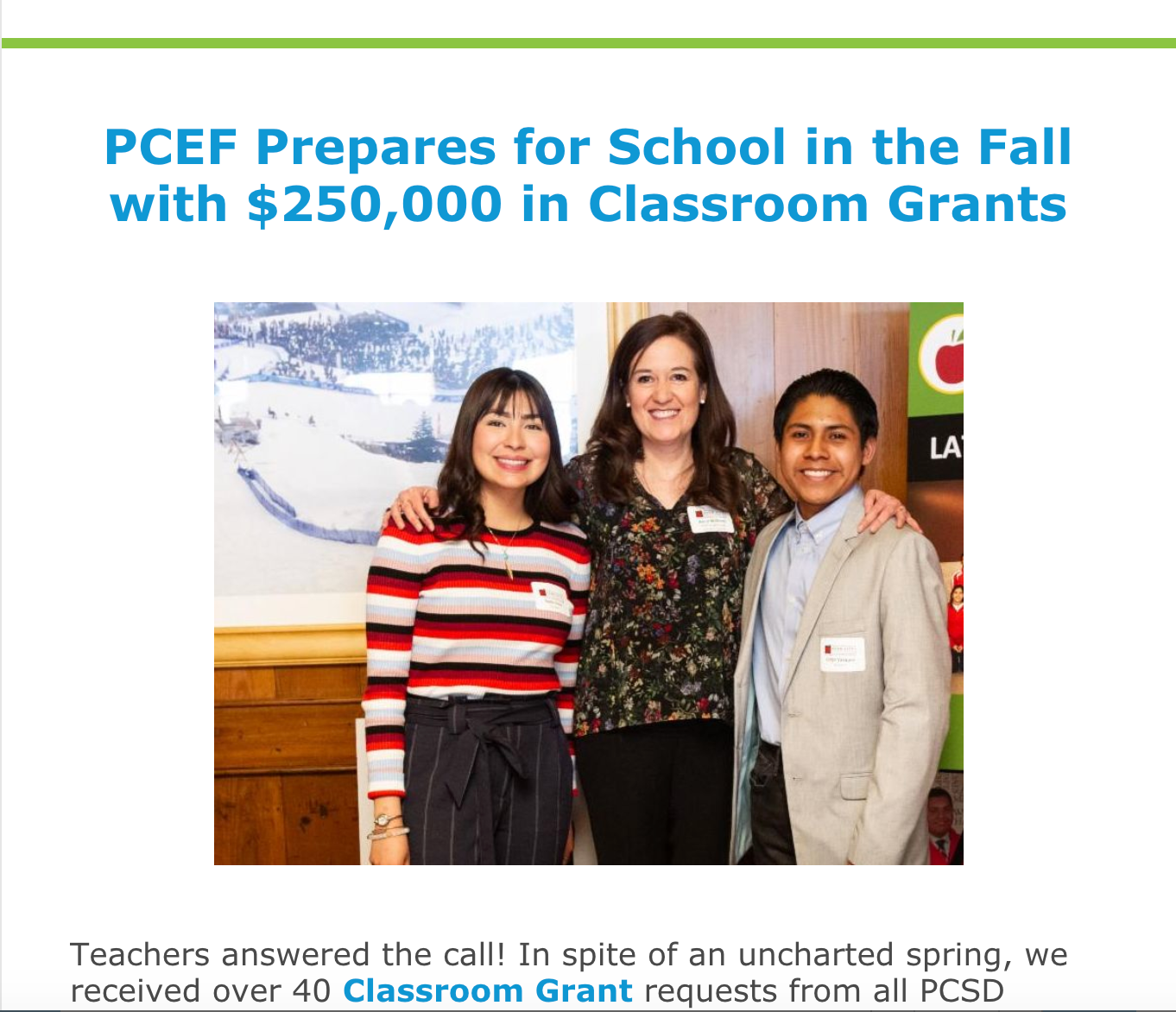 PCEF Newsletter June 2020