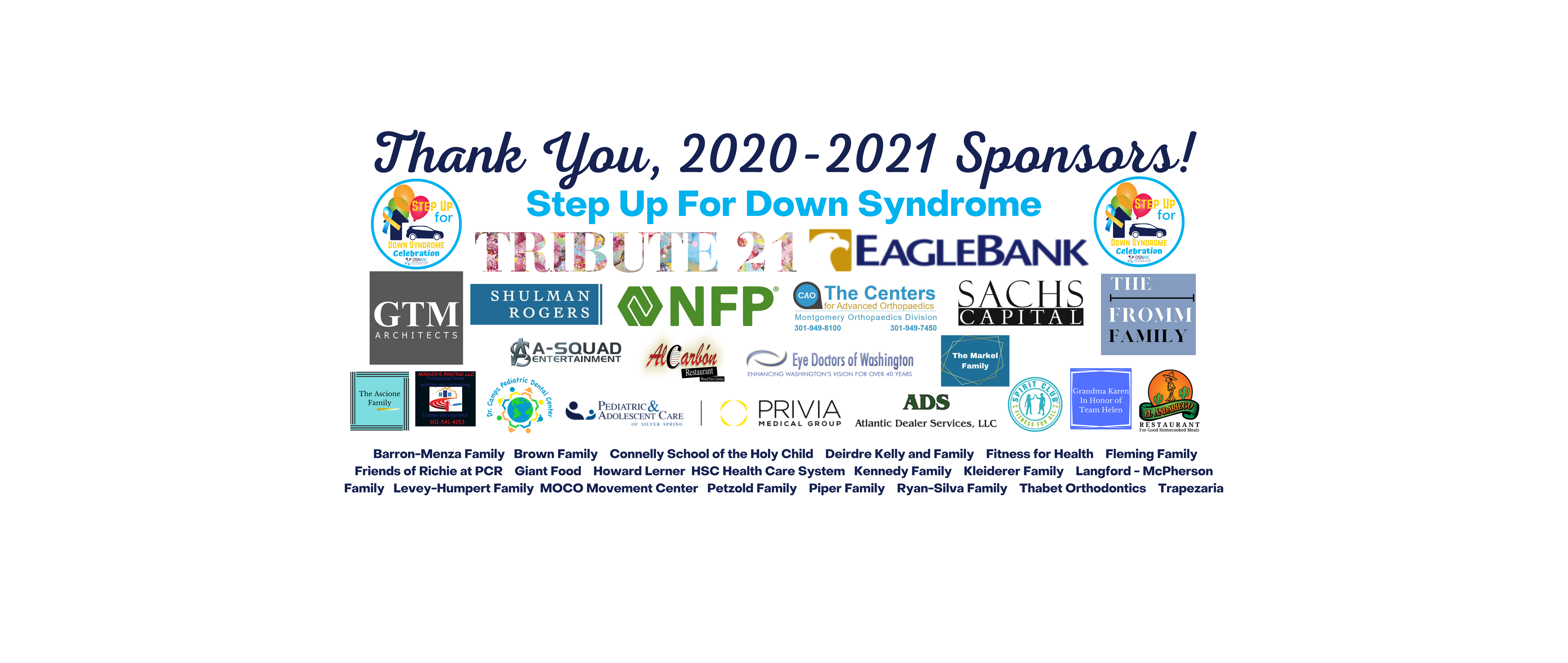 Thank You Sponsors 2020-2021