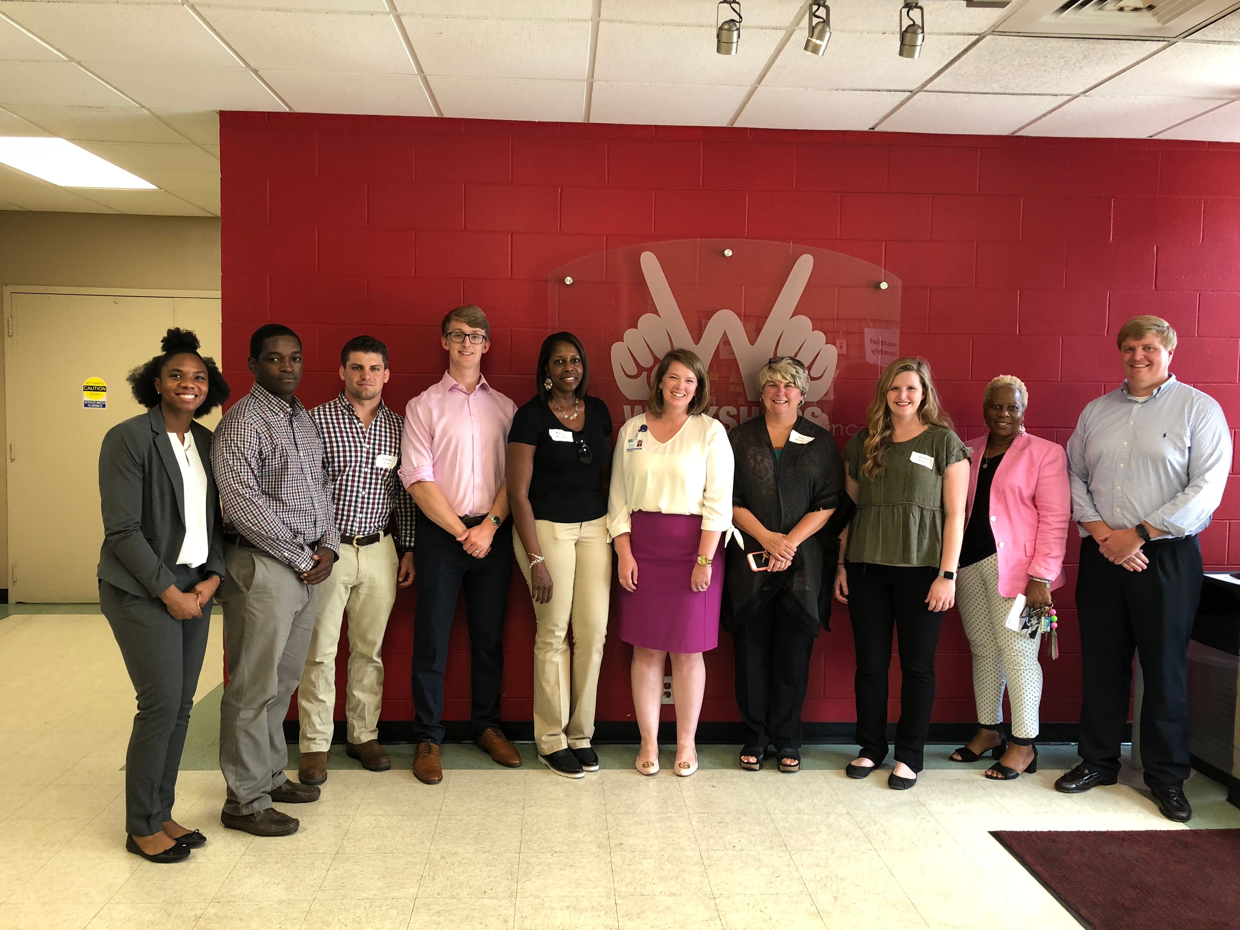 A group of 2018 United Way Loaned Executives toured Workshops August 20. United Way is a great partner for Workshops and so many other agencies.