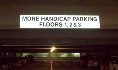 Reflective Parking Garage Sign