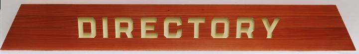 B11094 - Carved Engraved Redwood   Directory Sign