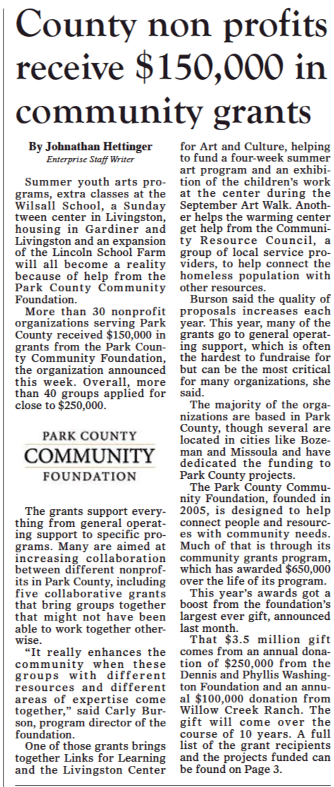 $150,000 in Grants Awarded to Local Community Organizations