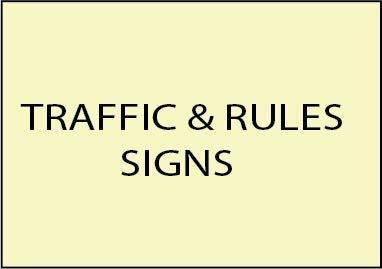 4. - E14500 - Golf Course Traffic and Rules Signs Made from Wood and HDU