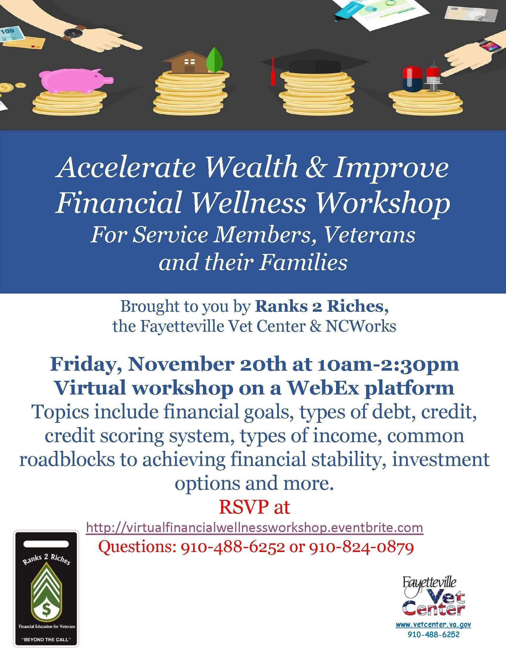 Accelerate Wealth & Improve Financial Wellness Workshop
