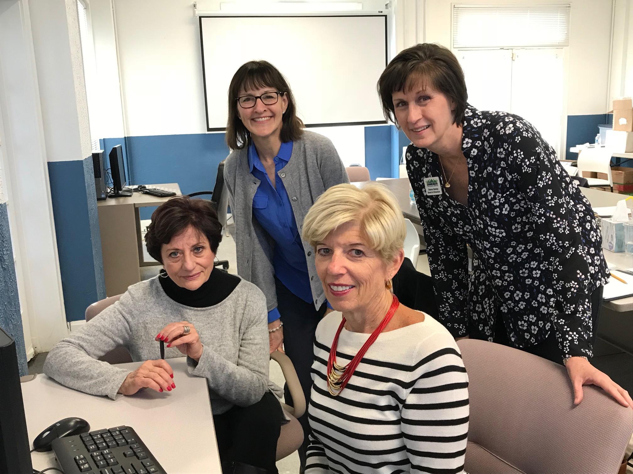 Pauline Moley, Secretary Julie Sykes, Sally Stanton, Dianne Stanley