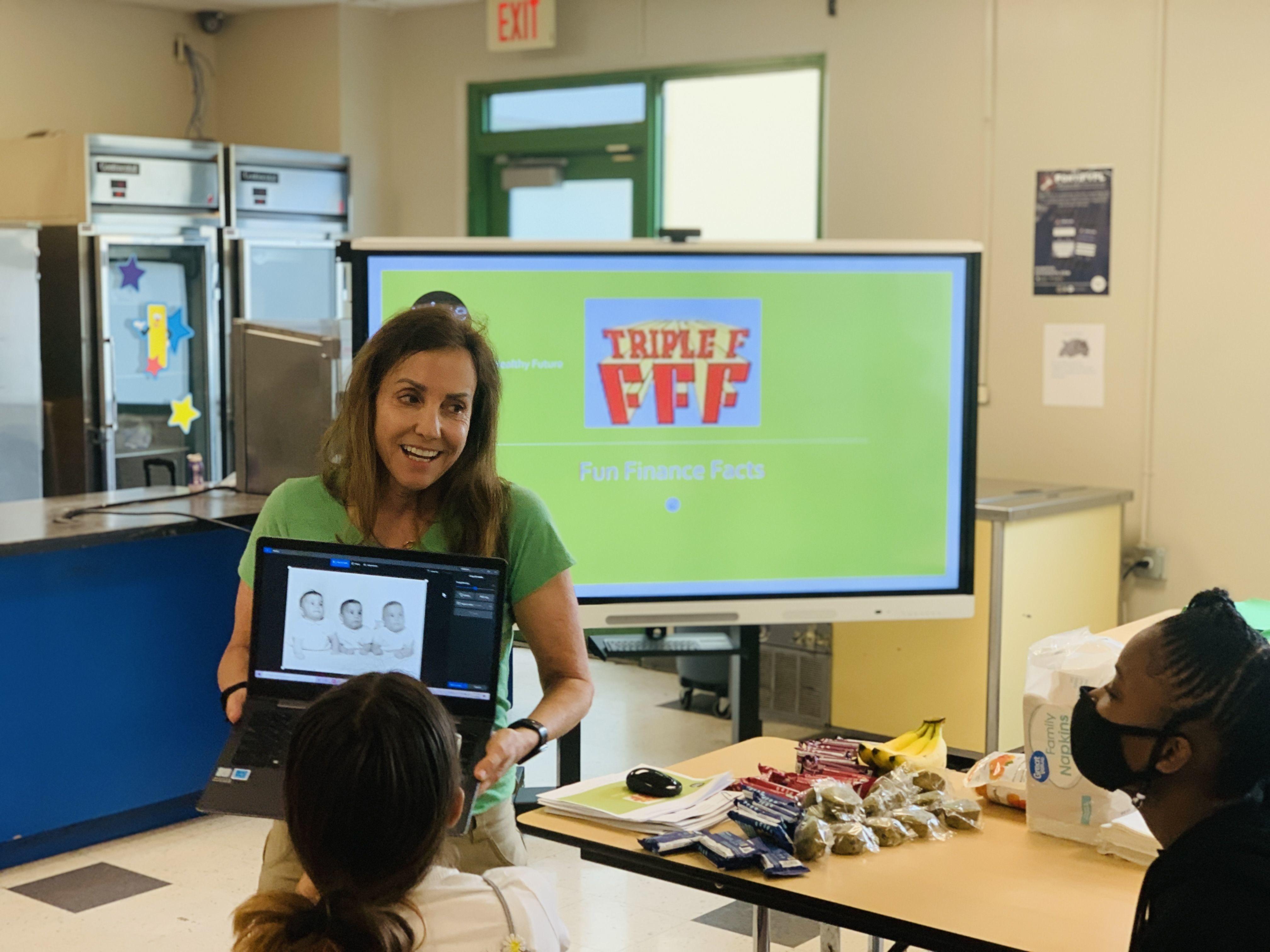 Volunteering to increase financial literacy.