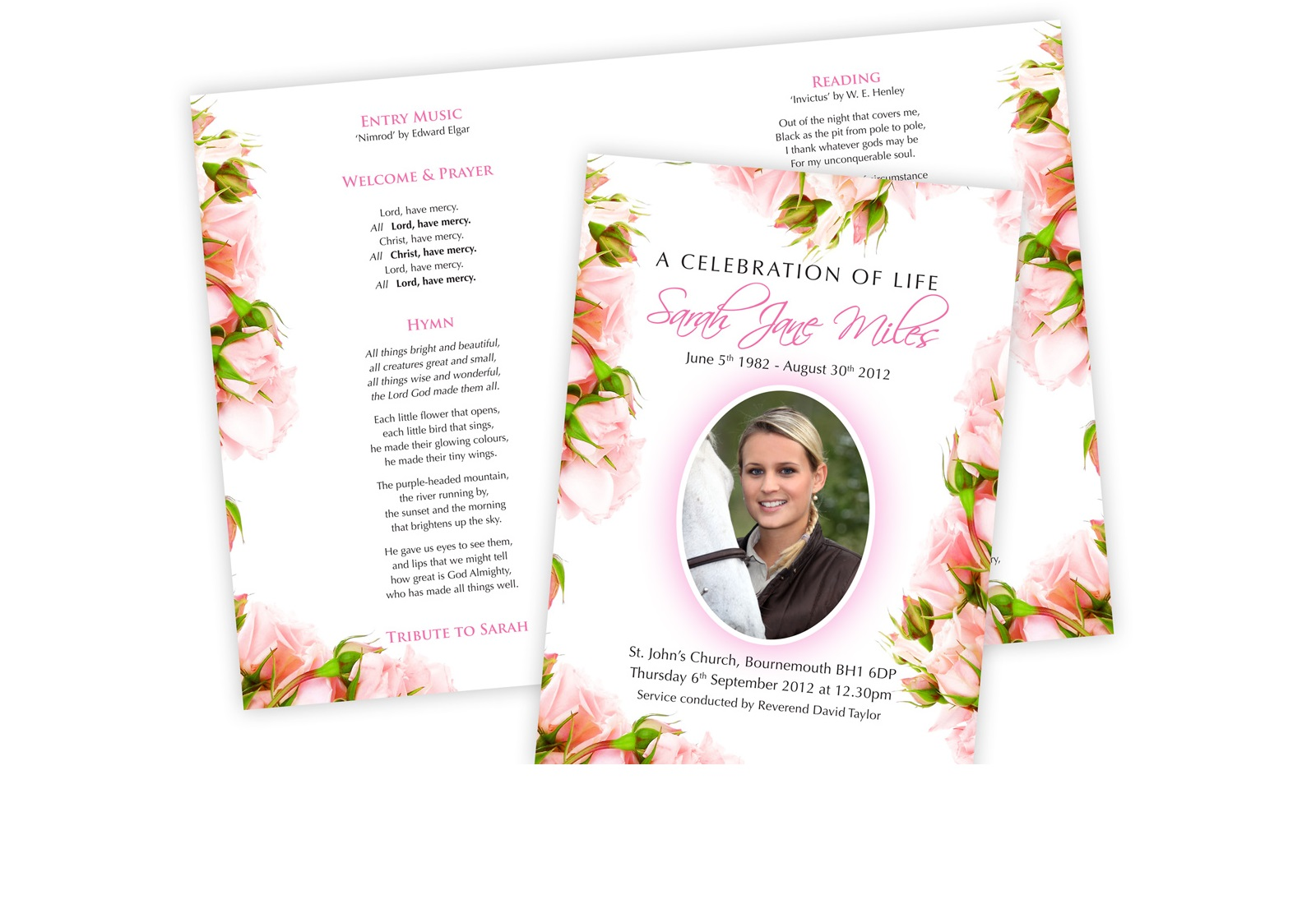 Funeral Stationery | Order of Service | Memorial Cards in Poole