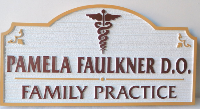 B11037 - Medical Family Practice Sign, with Physicians' Name and Degree