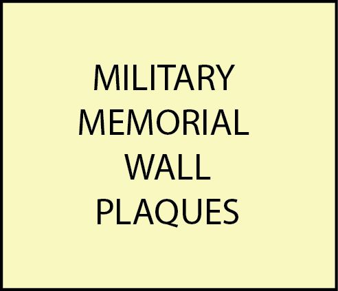 GC16800 - Military Memorial Wall Plaques