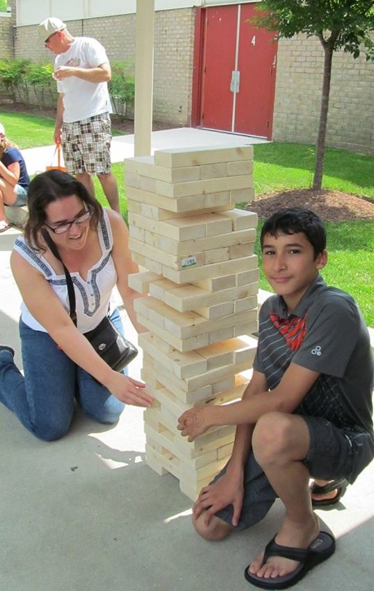 USO sponsored this giant Jenga game! (NSA photo)