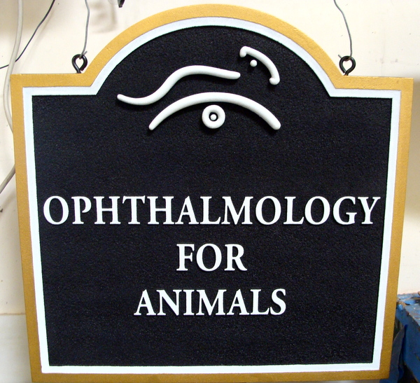 BB11736 - Carved and Sandblasted Sign for Veterinarian Office, Opthalmology for Animals