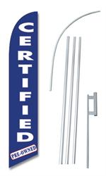 Certified Pre-Owned Swooper/Feather Flag + Pole + Ground Spike