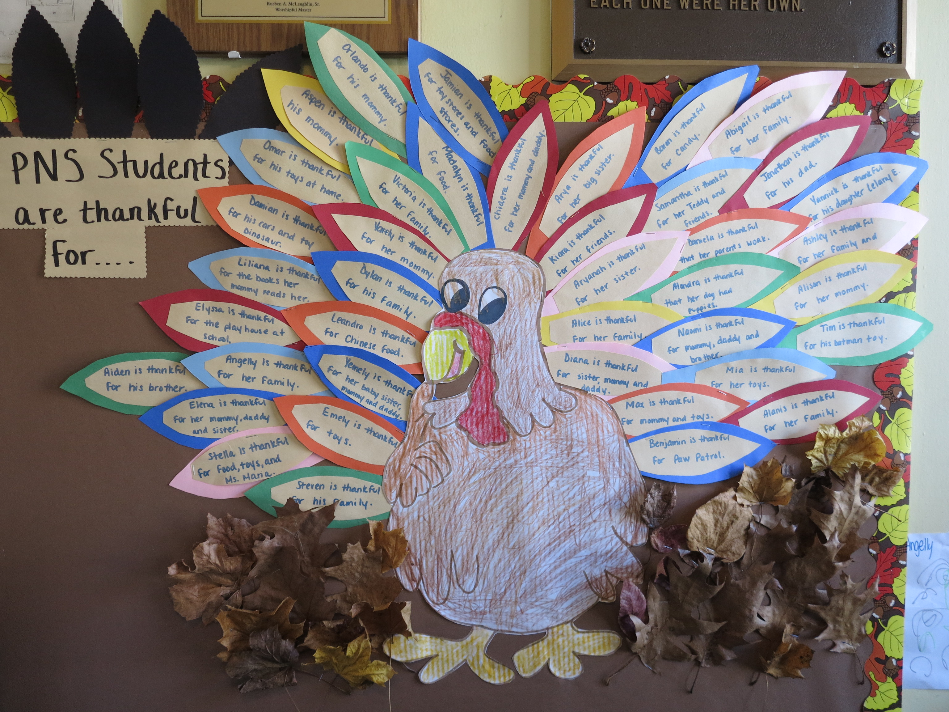 We Are Thankful For....