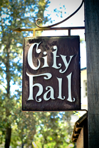Old Town Fredericksburg Sandblasted Signs