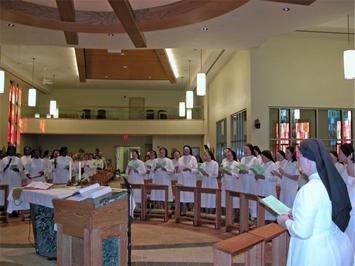 Sisters at Mass