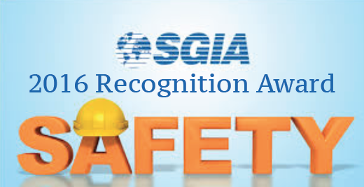 2016 SGIA Safety Award