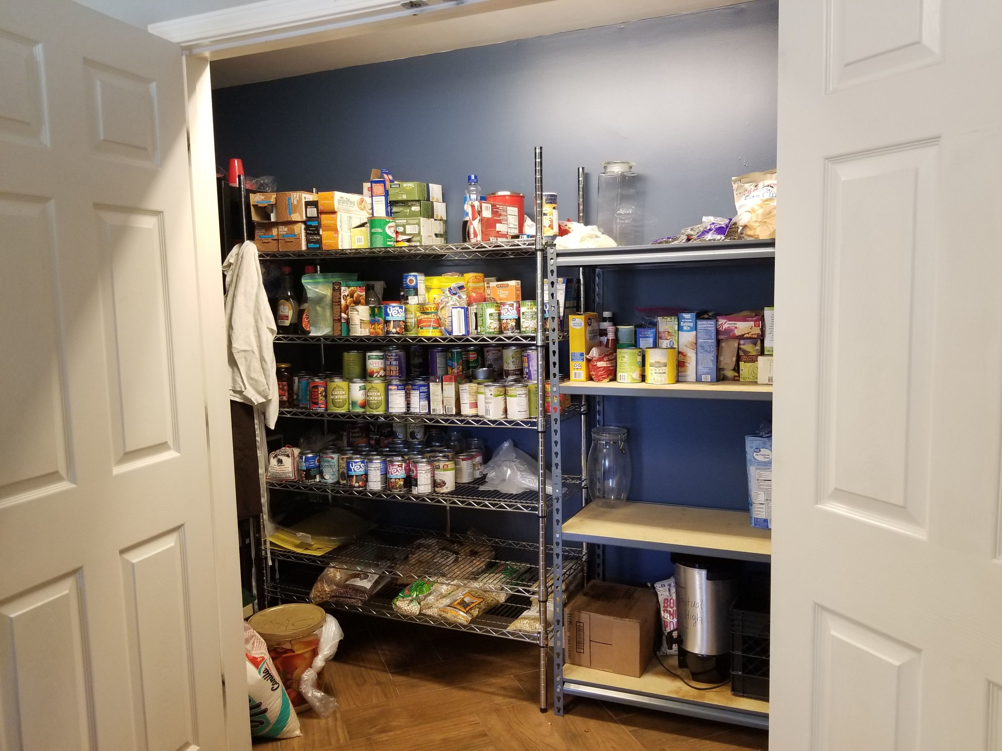 Transitional Home Pantry