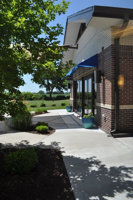 Patio | Exterior of Dining Room at LTC
