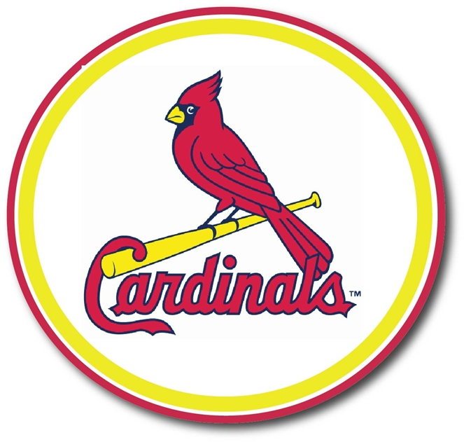WP-1120 - Carved Wall Plaque of Logo for Cardinals ,MLB,    Artist Painted