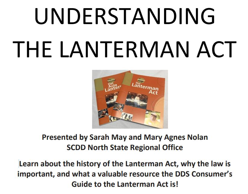 Lanterman Act