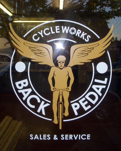 Back Pedal Window Graphics