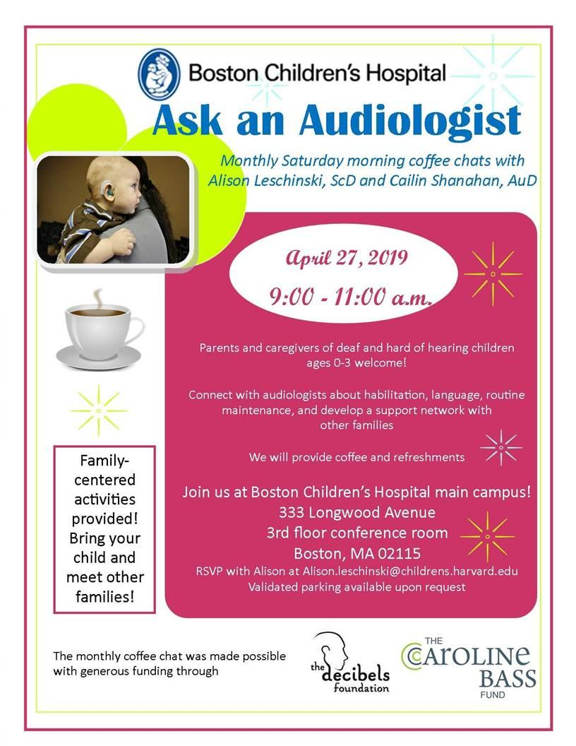 Ask an Audiologist Coffee Chat
