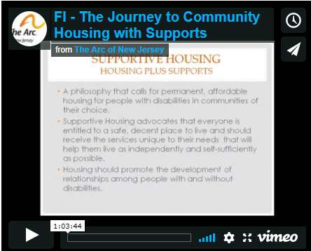 The Journey to Community Housing with Supports