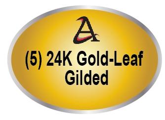 M7301 - (5) Gold-Leaf (24K) Gilded Plaques