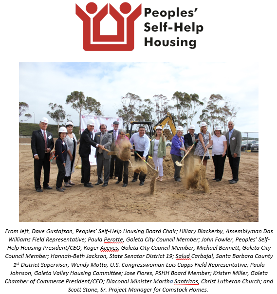 Peoples' Self-Help Housing Breaks Ground on  Affordable Goleta Apartments
